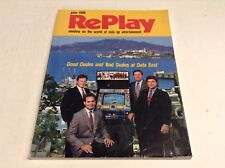 Replay Magazine June 1988 Arcade Video Game Magazine