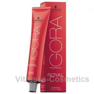 Schwarzkopf Hair Color Igora Royal 60ml - permanent Hair Colour Brand New Sealed