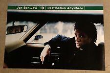 Bon Jovi Promo Poster Destination Anywhere 2-Sided 1997 HUGE 24X36 NEAR MINT