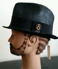 $148 Diesel Cafed Fedora Trilby Hat Black Unisex Straw / Wool Hat Size 2 XS
