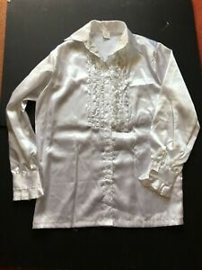 Pirate Frill Shirt Carribean Clothing Medieval Fancy Dress Mens Buccaneer