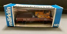 HO Scale Marklin 4424 Train Car with Bulldozer NIB