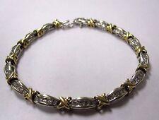 Diamond Tennis Bracelet 10k mixed Gold