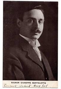 Postcard SIGNOR GIUSEPPE BARTOLOTTA, Italian Tenor Michigan Conservatory Music