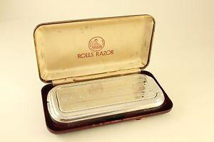 Vtg The Whetter Rolls Razor The Traveler Original Case Shaving Tool England Made