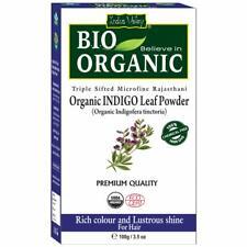 Indus Valley Organic Indigo Powder Hair Color - 100Gm   Free Shipping