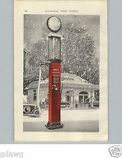 1925 PAPER AD 2 PG Gas Gasoline Station Bowser Visible Square Pump Car Auto RARE