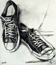"""24"""" urban Abstract  Converse All stars Canvas street art Print painting signed"""
