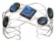 Cuff size Average Sterling Silver Labradorite Gemstone