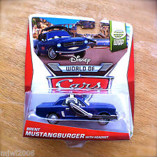 Disney World of Cars BRENT MUSTANGBURGER with HEADSET 2014 WGP diecast 9/15