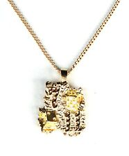 Chain Necklace Gold Plated Lucky Nugget Pendant 7/11 Charm Dice Free Shipping
