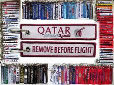 Keyring QATAR AIRWAYS Remove Before Flight tag keychain