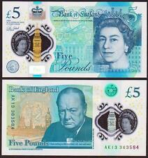 UK Great Britain 5 Pounds, 2015(2016), Polymer, P-New, UNC