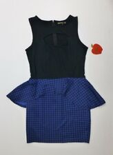 Apple Bottoms Womens Size XL Blue Black Keyhole Front Dress New with Tags