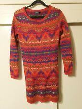 Polo Ralph Lauren Womens Knit Southwest Aztec Sweater Dress XS