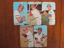 5-1971 Topps Super Cards(WILLIE STARGELL/JOE TORRE/WES PARKER/FELIX MILLAN/WHITE