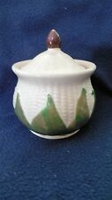"Shawnee Pottery ""White & Green Corn King"" utility jar/sugar bowl"