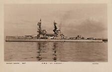 "Royal Navy Real Photo Postcard. HMS ""St. Vincent"" Dreadnought Battleship. 1908"