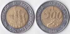 REPUBBLICA DI S. MARINO 500 LIRE 1991