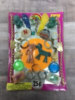 12 Gumby /& Pokey Charms Old Gumball Vending Machine Toy