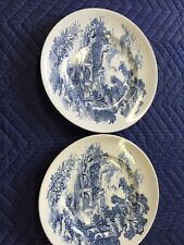 Countryside Wedgewood Plates Blue