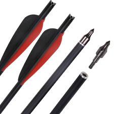 12x 20 Zoll Armbrustbolzen Bolzen 8.8mm Carbonbolzen für Armbrust schwarz