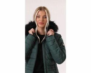 Dare 2B Women's Striking Waterproof Insulated Hooded Parka Ski Jacket - Green