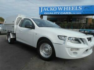 2013 Ford Falcon FG MK2 White Automatic 6sp A Cab Chassis