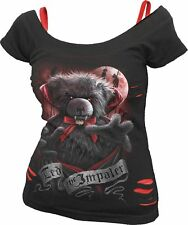 SPIRAL DIRECT NEW TED THE IMPALER F 2in1 Ripped/Goth/Cute teddy bear/Bat/Tee/Top