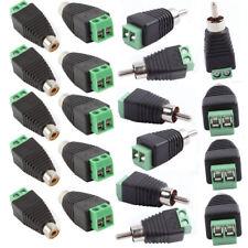 20PCS Phono RCA Male&Female Plug TO AV Screw Terminal Video AV Balun Connector