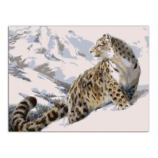 Leopard DIY Oil Painting Paint By Numbers Drawing On Canvas Home Office Decor
