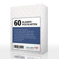 60 BLANKO-POSTKARTEN zum Selbstgestalten, Malen, für Drucker geeignet