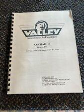 1995's Valley Factory Original Cougar Hb Dart Manual