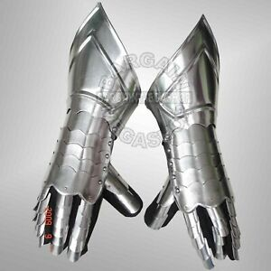 Steel Gauntlets Medieval Gauntlet Larp Role-play Fancy Dress Theatre