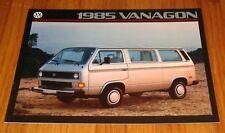 Original 1985 Volkswagen VW Vanagon Sales Brochure GL Camper
