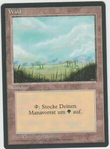 ►Magic-Style◄ MTG - Forest / Wald (Plains) - Misprint German Revised FBB - NM