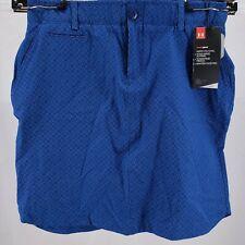 NWT UNDER ARMOUR Heat Gear Fitted Blue Golf Skirt SKORT Polka Dot Women's Size 0