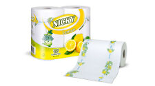 16 X Nicky Maxi Kitchen Towels Lemon 100 Sheets per Roll Kitchen Roll
