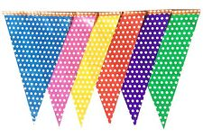 Polka Dot Bunting Multi Coloured 20 Flags Birthday Party Decoration 10 Metres