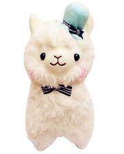LARGE Kawaii White Blue Hat Alpaca Llama Plush 38cm Tall Cute Fluffy Plushie