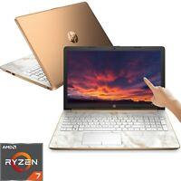 HP 15.6 HD Touch Screen Laptop Quad-Core AMD Ryzen 7 4GHz 12GB RAM 2TB HDD DVD