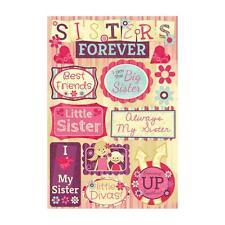 Scrapbooking Crafts Karen Foster Stickers Sisters Big Little Best Friends Divas