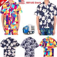 NEW Hawaiian Shirt Mens  Floral Print Aloha Party Beach Camp Summer Holiday Tops