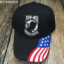 Black POW-MIA USA You Are Not Forgotten Military Baseball Cap Hat Black HT-713
