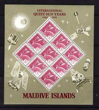 Maldive Islands  #147-50  (1965 Quiet Sun Year set in sheets of 9 ) VFMNH CV $18