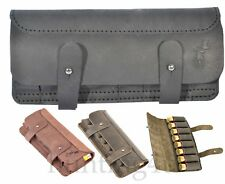 Hunting Leather Cartridge Holder Shell Pouch Shotgun Rifle Carrier 8 12 Ga