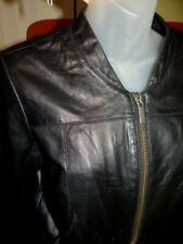 Rare JIMMY CHOO x H&M women's kidskin black leather bomber motorcycle jacket-8