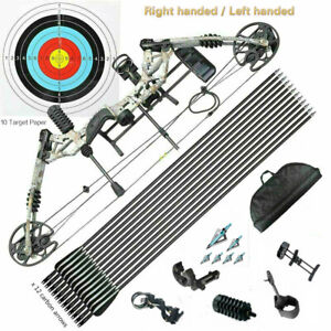 KM Compound Bow 20-60lbs Archery Bow Hunting Target Shooting Right / Left Handed