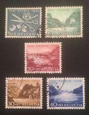 Schweiz Pro Patria 1956 Mi-Nr. 627/31 gestempelt