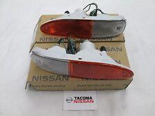 Genuine OE Nissan JDM S13 Chuki Turn Signal Lamp SET Amber/Clear BRAND NEW PAIR